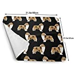 Rough Collie Dog Fabric Cute Rough Collie Print Pattern for Sewing Quilters Cute Dog Design Baby Portable Reusable Changing Pad Mat 25.5 x 31.5 7