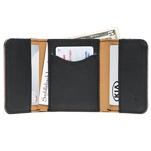 Saddleback Leather Co. Classic Full Grain Leather Trifold Wallet for Men RFID-Shielded Includes 100 Year Warranty