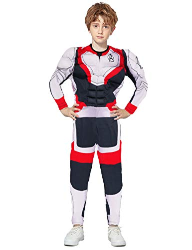 JAPANSCHOICE Kids Avengers' Endgame Quantum Realm Cosplay Costume 3D Spandex Unisex Bodysuit for Kids Boys Girls Aged 5-13 (Quantum Warfare, S for Height 43.3