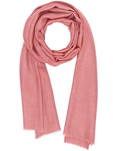 Cashmere Feel Wool Silk Blend Scarf Pashmina Women's Men's Shawl Coral Haze