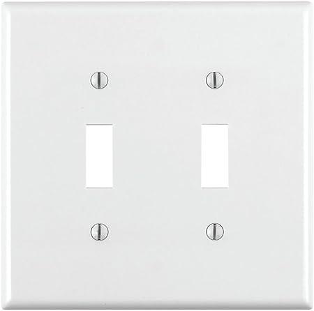Ivory Switch Plates Leviton Double Gang  80709-I 5