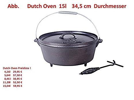 4,26 Liter Vol. Dutch Oven mit Deckel und Füße