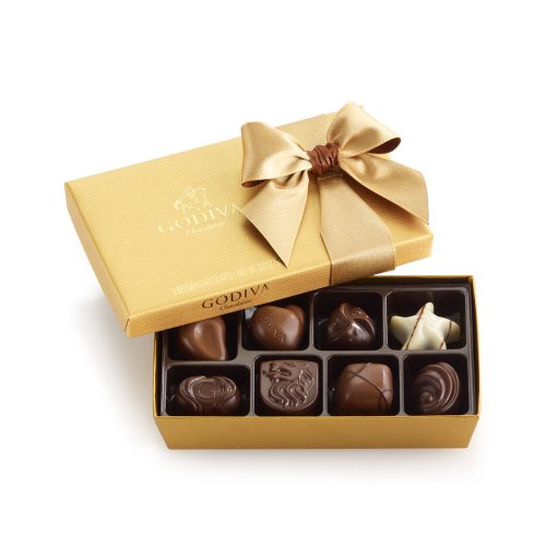 Godiva Chocolatier Classic Gold Ballotin Chocolate Candy, 8 Count Gift Box