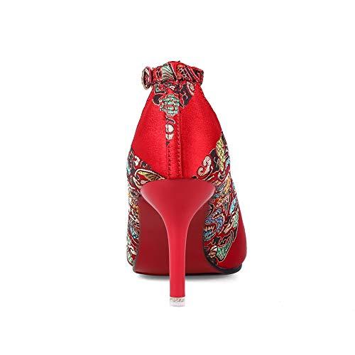 SDC05900 EU Donna 35 Zeppa Sandali AdeeSu Rosso Red con gqwdxZ8