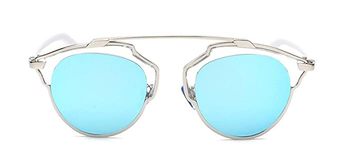 c7127192b513d GAMT Women s Cateye Polarized Sunglasses For Women Classic Style (Silver  Frame Blue Lens)