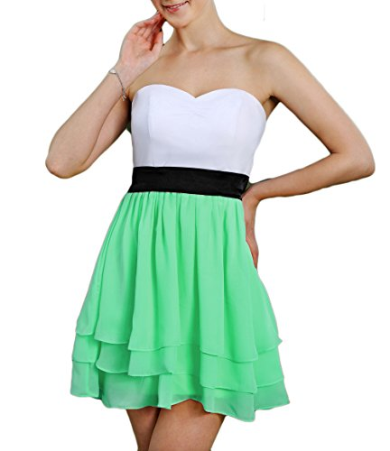 A Gown Party Chiffon Women's Line Short Ruched Homecoming Dress Sweetheart Mint DKBridal EqvzKRwxYE