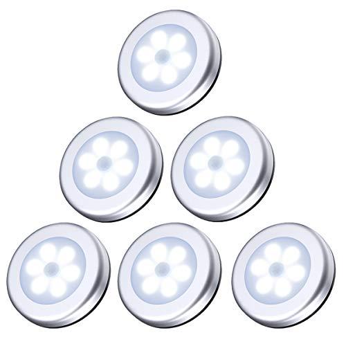 AMIR Bewegingssensorverlichting, Onderkast LED Nachtlampje, Kastverlichting met Stickpads en Magneet voor Trap, Kast…