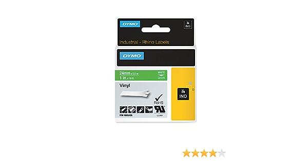Dymo Rhino Tape Vinyl Label Cassette Green 1805426 1-Inch 24mm