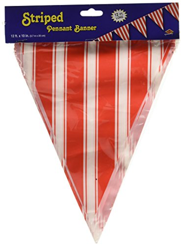 Striped Pennant Banner Party Accessory (1 count)
