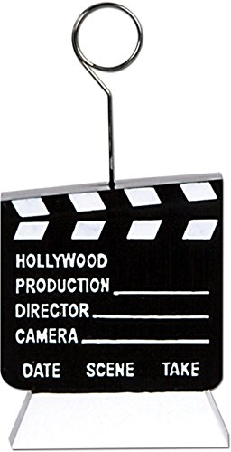 Beistle 50462 1-Pack Clapboard Photo/Balloon - Photo Clapboard Hollywood
