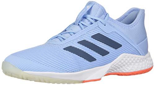 adidas Women's Adizero Club Tennis Shoe, Glow Blue/tech Ink/hi-res Coral, 7.5 M US