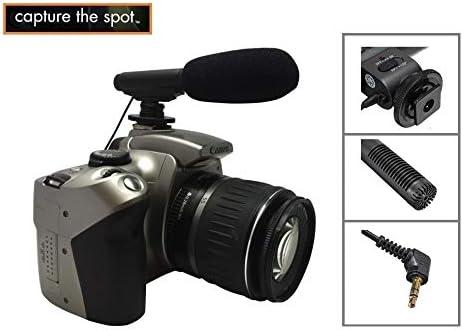 I3ePro BP-CMIC1 X-Series Mini Shotgun Condenser Microphone for Canon VIXIA HF G30 Camcorder Grey