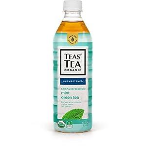 Teas' Tea Unsweetened Mint Green Tea, 16.9 Ounce (Pack of 12), Organic, Zero Calories, No Sugars, No Artificial Sweeteners, Antioxidant Rich, High in Vitamin C