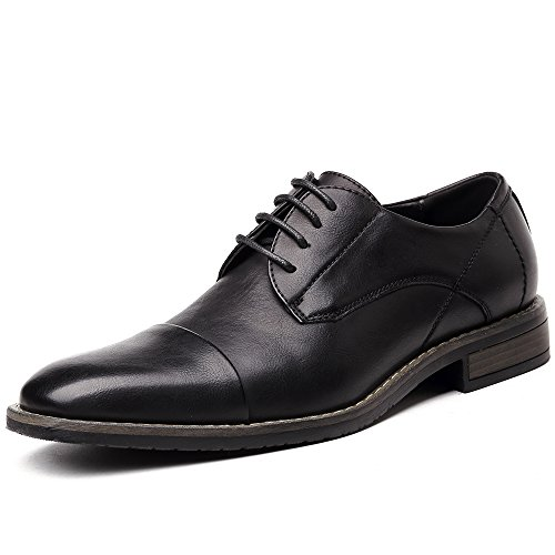 OUOUVALLEY Men's Classic Modern Oxford Wingtip Lace Dress Shoes (15 D(M) US, OUOU-002Black)