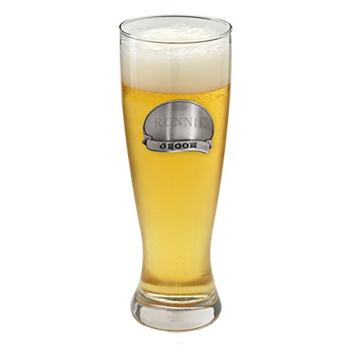 Personalized Grand Pilsner w/Pewter Medallion - Groom