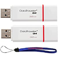 Kingston (TM) Digital Flash Drive 2 Pack DTIG4 Data Traveler High Speed with (1) Everything But Stromboli (TM) Lanyard