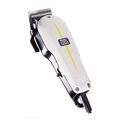 Wahl Super Taper – Maquina cortapelos, cuchillas cromadas, con accesorios, corriente alterna, blanco