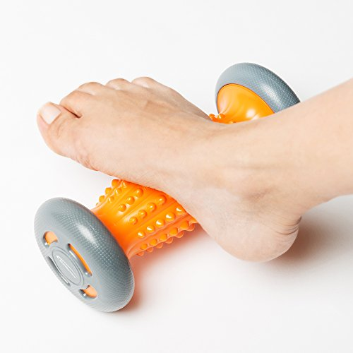 Foot Massage Roller for Plantar Fasciitis, Heel & Foot Arch Pain Massager Relief. Stress and Relaxation, through Trigger Point Therapy Includes Downloadable E-Book on Reflexology by Natural Chemistree