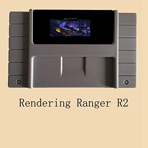 ZoneHoug 16 Bit 46 Pin Game Cartridge - Rendering Ranger R2 16 Bit Big Gray Super Game Card