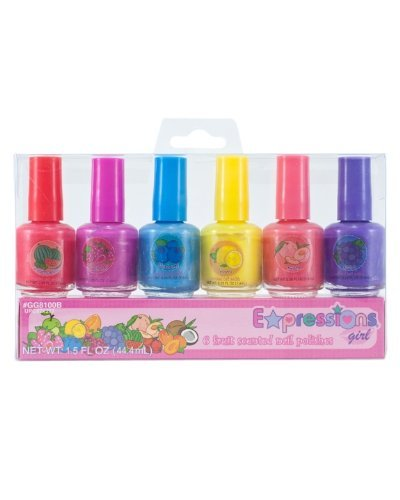 Expressions Girl 6-piece Fruit Scented Nail Polish Set -