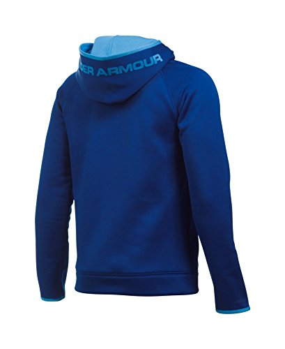 Under Armour Boys' Storm Armour Fleece Highlight Big Logo Hoodie, Caspian (403), Youth X-Small by Under Armour (Image #1)