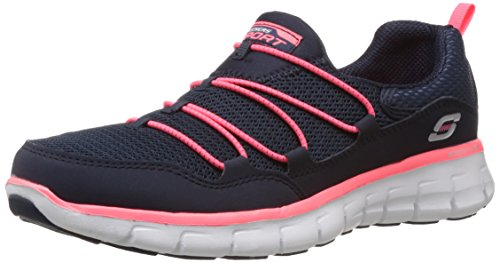 Skechers Synergy Loving Life - Zapatillas de material sintético mujer azul - Blau (NVCL)
