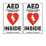 """2 Pack of 4"""" Width x 6"""" Height, Vinyl, Red and"""
