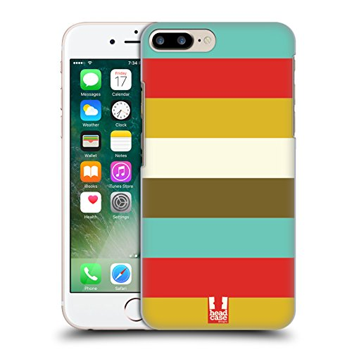 Head Case Designs Strisce Natale Retro Cover Retro Rigida per Apple iPhone 7 Plus / 8 Plus