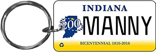 Personalized Indiana 2013 Replica License Plate Keychain