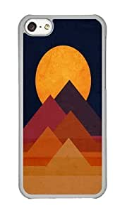 linJUN FENGApple iphone 5/5s Case,WENJORS Awesome Full moon and pyramid Hard Case Protective Shell Cell Phone Cover For Apple iphone 5/5s - PC Transparent