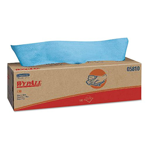 (WypAll 5810 L30 Wipers, Pop-Up Box, 16 2/5 X 9 4/5, Blue, 100/box, 8/carton)