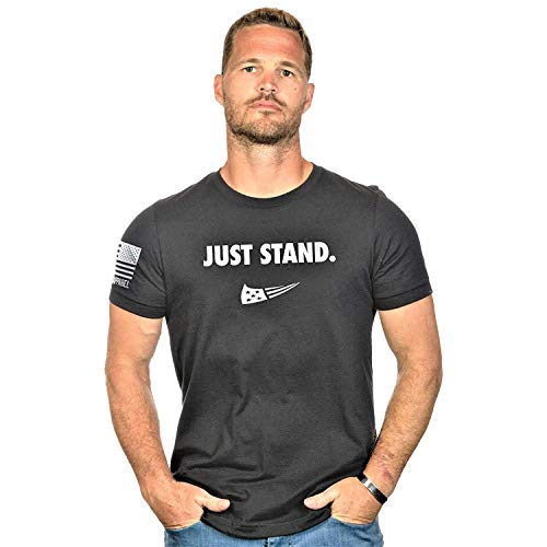Nine Line Just Stand Men's T-Shirt, Color Black, Size Medium