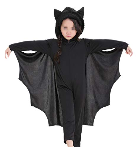(Child Animal Cute Bat Costume Kids Halloween Costumes Jumpsuit Connect Wings Cosplay bat)