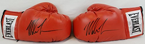 pair-of-mike-tyson-signed-red-everlast-boxing-gloves-jsa-witness-autographs