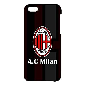 3D AC Milan Logo Phone Case for IPhone 5c Classical Design Serie A 3D AC Milan 1899 ACM Logo Cover Case Fit IPhone 5c