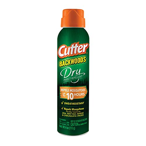 Cutter Backwoods Dry Insect Repellent, Aerosol, 4-ounce