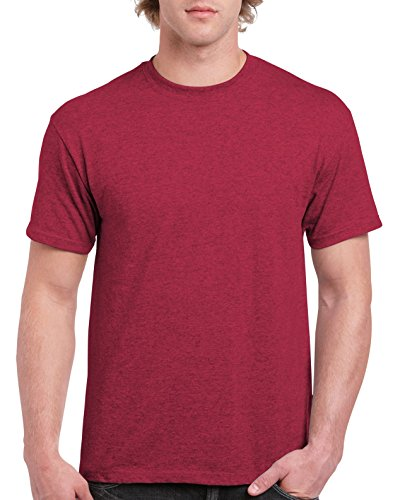 Gildan Men's Ultra Cotton Tee Extended Sizes, Antique Cherry Red, XX-Large