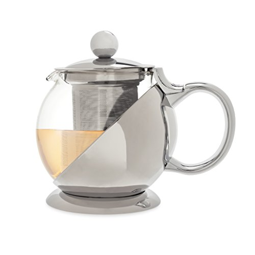 Shelby Teapot & Infuser by Pinky Up (Stainless Steel)