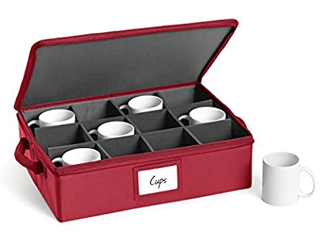 CoverMates – China Cups and Coffee Mugs Storage Box 17W x 13D x 5H – CoverMates Collection – 2 YR Warranty – Year Around Protection