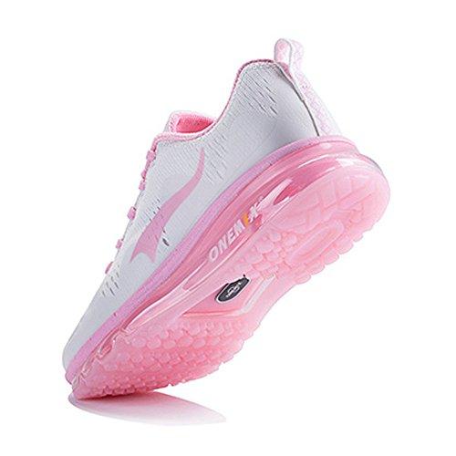 Onemix Scarpe Uomo Basse Corsa Running Donna da Sneakers Sportive Air Ginnastica Rosa rrnqwfTOF