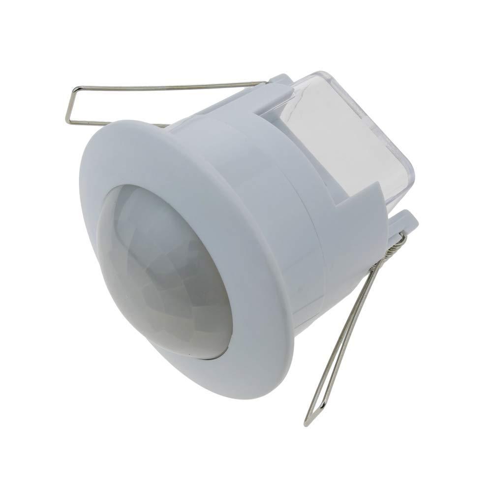 Cablematic Detector de movimiento por infrarojos de techo empotrable color blanco