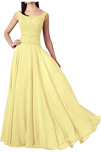 Lang Braut Promkleider Rosa Marie Abendkleider Brautmutterkleider La Hell Perlen Hundkragen Gelb Damen 6z5An8wq