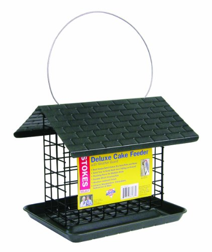 Stokes Select Deluxe Cake Feeder With Metal Roof, One Suet Capacity Double Suet Holder