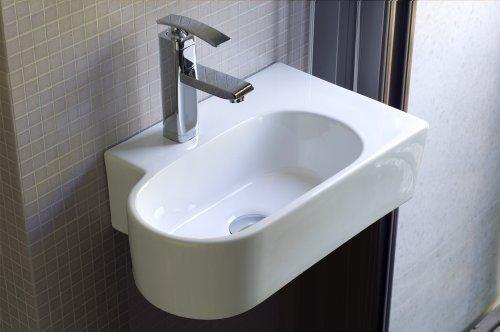 Handwaschbecken Für Kleine Badezimmer Gäste WC Toiletten Weißes Rundes  Ovales Gästewaschbecken Als Keramikwaschbecken Designer Gästewc SW 010:  Amazon.de: ...