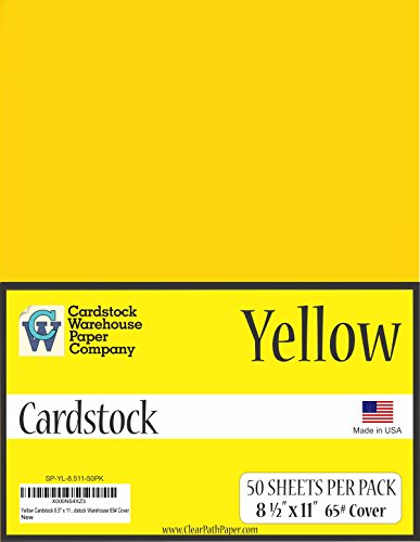 Yellow Cardstock 8.5