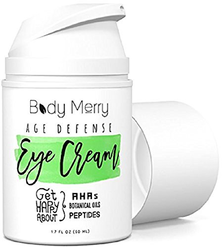 Body Merry Age Defense Eye Cream Natural & Organic Anti-Aging Lotion for Dark Circles, Wrinkles, Puffiness, Crow's Feet, Fine Lines & Bags - 1.7 oz (Best All Over Body Lotion)