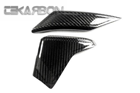 2006 - 2014 Yamaha YZF R6 Carbon Fiber Swingarm Guard Covers - Twill ()