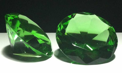 Green Diamond Paperweight 3.15