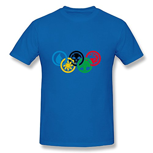 Price comparison product image Men's T Shirt Magic Gathering Olympics Size M RoyalBlue