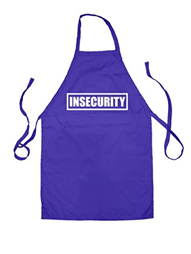Insecurity - Unisex Fit Apron - Purple - One Size by Dressdown